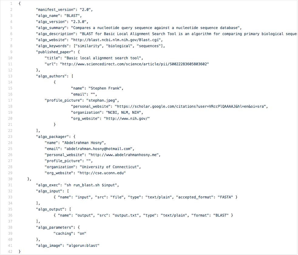 Packaging Algorithms — AlgoRun 2 0 documentation